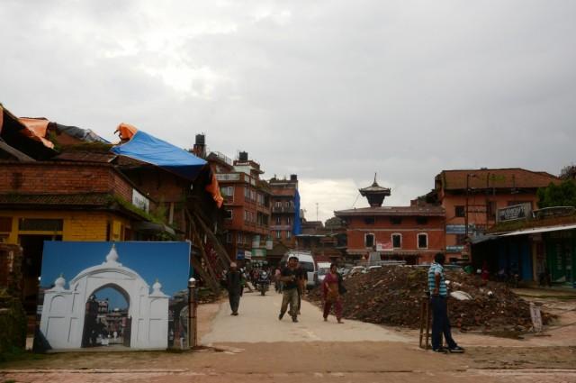 Zdjęcia: Bhaktapur, Dolina Kathmandu, Była brama..., NEPAL
