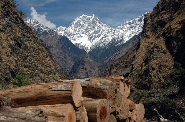 Zdjęcia: Annapurna Circuit, Annapurna Circuit, Widok na Himalaje, NEPAL