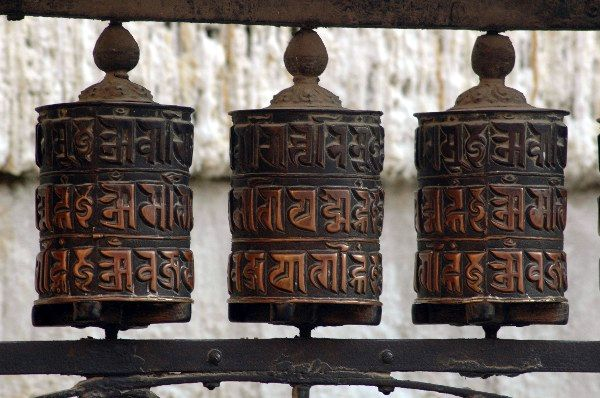 Zdjęcia: Annapurna Circuit, Annapurna Circuit, Kołowrotki modlitewne, NEPAL