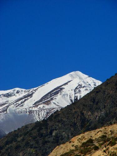 Zdjęcia: Jomson, widoki na wieksze gory, NEPAL