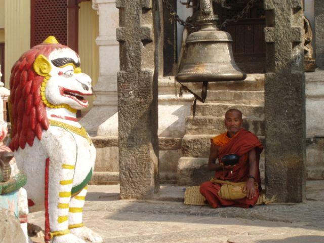 Zdjęcia: Katmandu, Mnich, NEPAL
