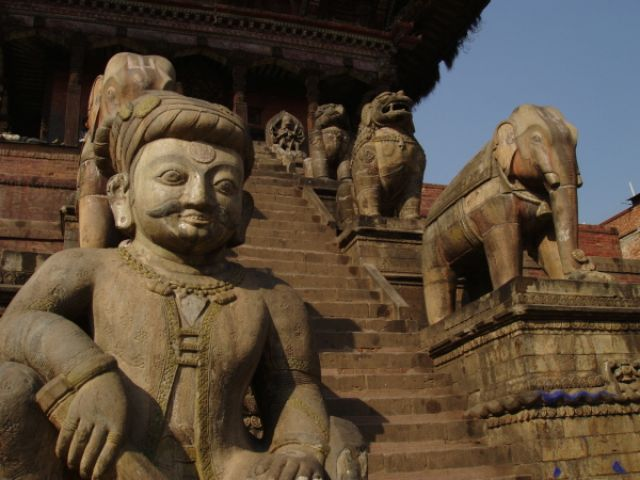 Zdj�cia: Dolina Katmandu, Schody do �wi�tyni, NEPAL