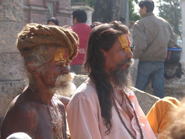 Zdj�cia: Kathmandu, �wi�ci m�owie., NEPAL
