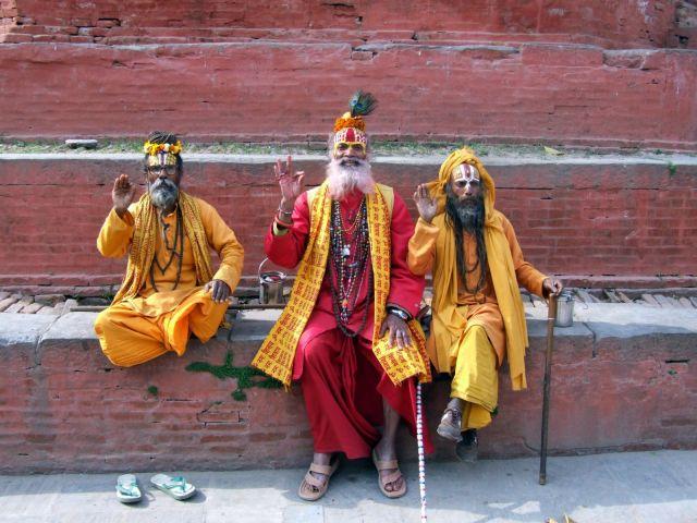 """Zdjęcia: Kathmandu, Dolina Kathmandu, """"Swieci"""" mezowie, NEPAL"""
