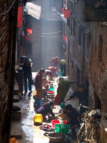 Zdjęcia: Bhaktapur, Dolina Kathmandu, Pranie, NEPAL