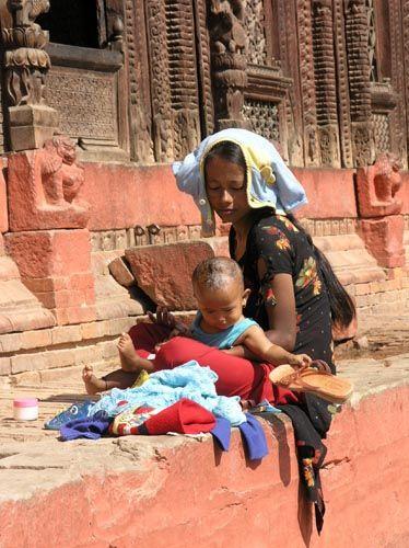 Zdj�cia: Kathmandu, Kathmandu, Madonna z dzieci�tkiem, NEPAL