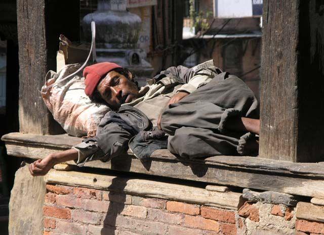 Zdjęcia: Durbar Square, Kathmandu, Chwilowa przerwa w pracy:), NEPAL