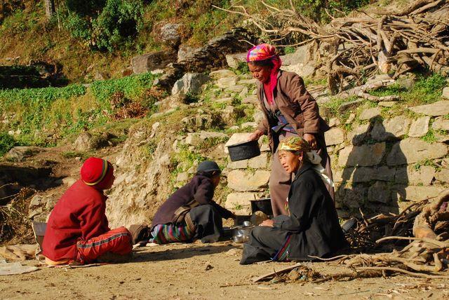 Zdj�cia: NEPAL, Annapurna TREK, czas na obiad, NEPAL
