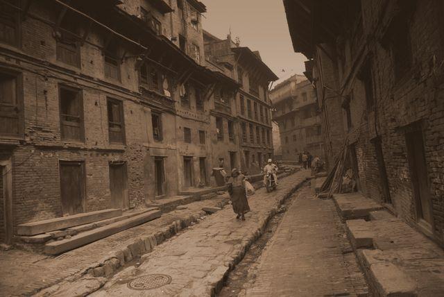 Zdjęcia: Bhaktapur, Dolina Kathmandu, Ulice Bhaktapur, NEPAL