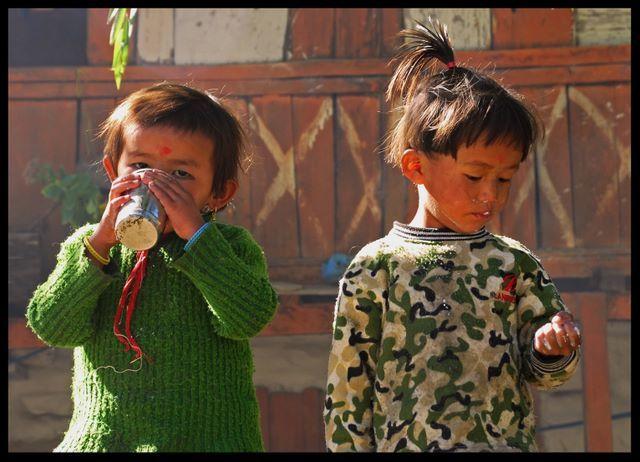 Zdjęcia: Anapurna TREK, Anapurna, Dzieci , NEPAL