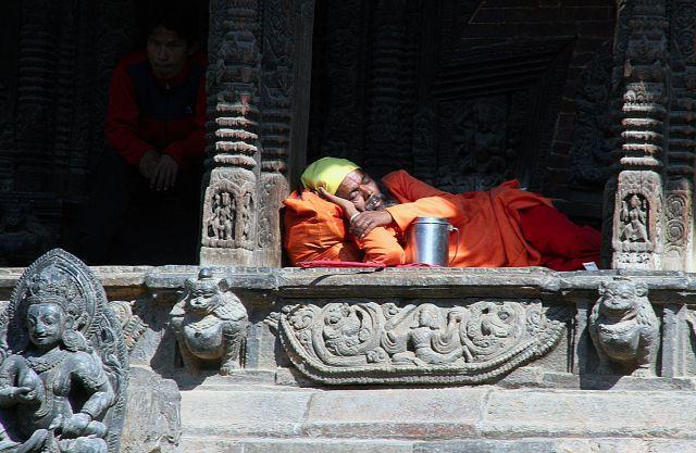Zdjęcia: Patan, ...po ciężkim dniu, NEPAL