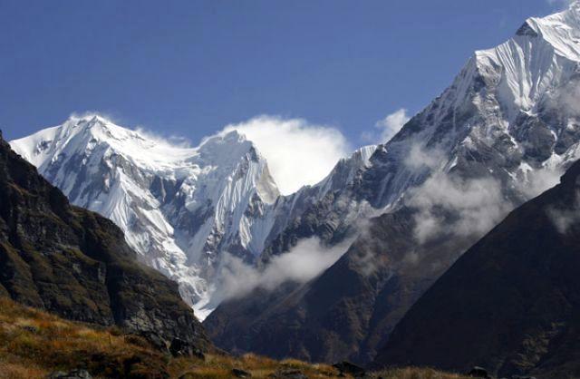 Zdjęcia: połowa drogi między MBC a ABC, Annapurna Sanctuary, Annapurna III, NEPAL