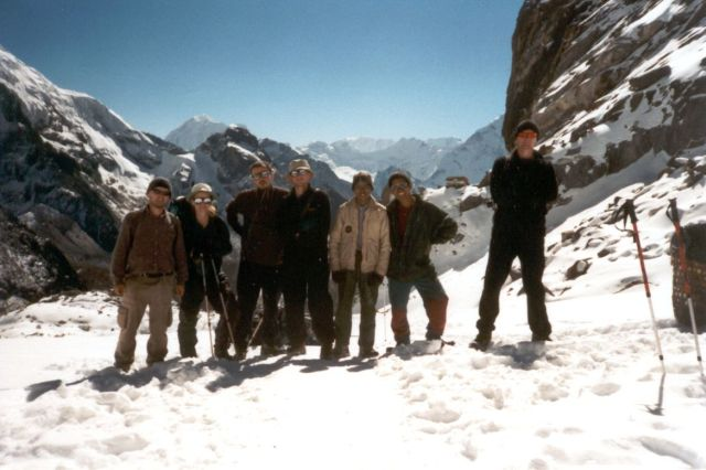Zdjęcia: przełęcz ChoLa, Sagarmatha National Park, Całą ekipą na przełęczy, NEPAL
