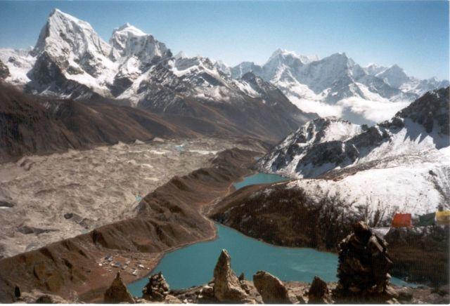 Zdjęcia: Gokyo-Ri, Sagarmatha National Park, Widok ze szczytu Gokyo-Ri, NEPAL