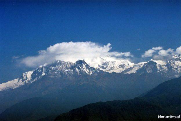 Zdjęcia: widok gdzieś po drodze między Naudandą a Pokharą, Annapurna Sanctuary, Annapurna IV - NEPAL, NEPAL