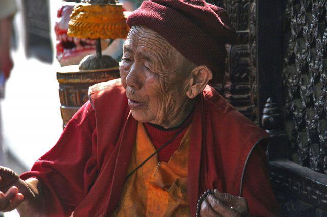 Zdjęcia: Stiupa BOUDINATH, Stary Mnich, NEPAL