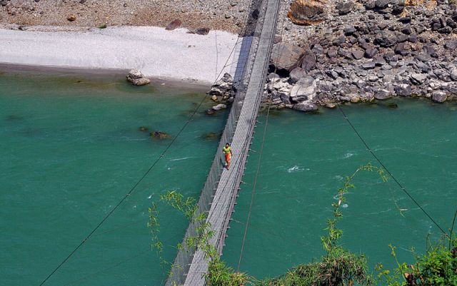 Zdjęcia: Rzeka TRISULI, Przeprawa, NEPAL