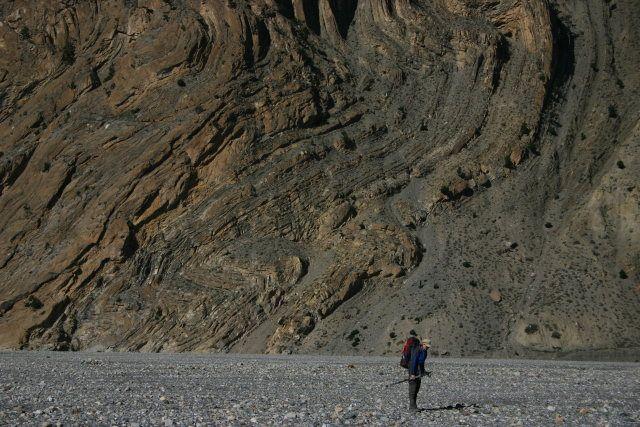 Zdjęcia: Z Jomsom do Kagbeni, Mustang, Historia zapisana w skale, NEPAL