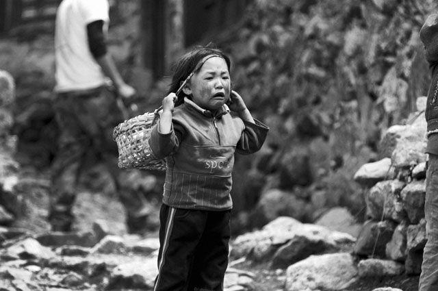 Zdjęcia: Solu Khumbu, dziecko i doko, NEPAL
