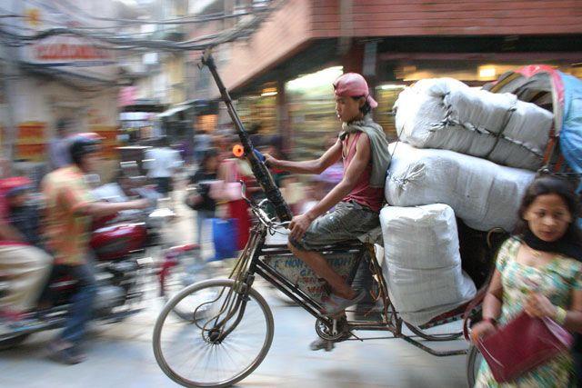 Zdjęcia: Kathmandu, Kathmandu, kathmandu_riksza, NEPAL