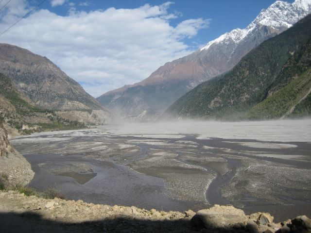Zdjęcia: okolice Jomsom, Himalaje, wiecznie wietrzna dolina Kali Gandaki, NEPAL