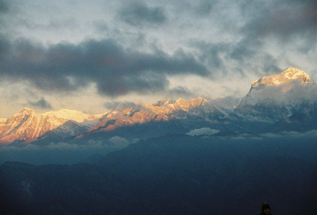 Zdjęcia: Widok z Poon Hill, -Masyw Annapurny, Dhaulagiri  wschód słońca, NEPAL