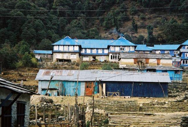 Zdjęcia: Tadapani, -Masyw Annapurny, Nepalska wioska, NEPAL