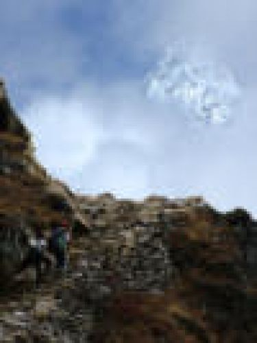 Zdjęcia: Sagarmatha National Park, Himalaje, Amadablam za chmurami min, NEPAL