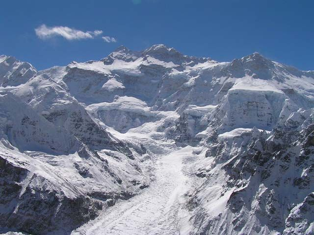 Zdjęcia: Pangema pod lodowcem Kanchenjunga, Nepal, Kanchenjunga od strony północnej, NEPAL