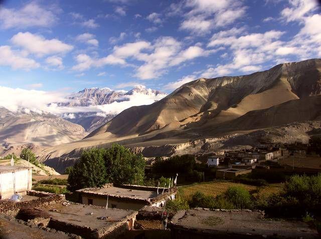 Zdjęcia: Okolice Jarkot, Annapurna, Widok w stronę Mustang, NEPAL