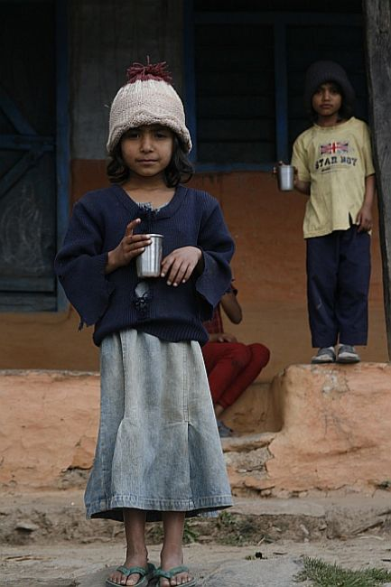 Zdjęcia: Pokhara, Pokhara hills, rodzeństwo, NEPAL