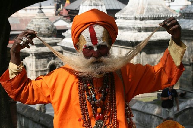 Zdjęcia: Pasupatinath, Kathmandu, Sadhu, NEPAL