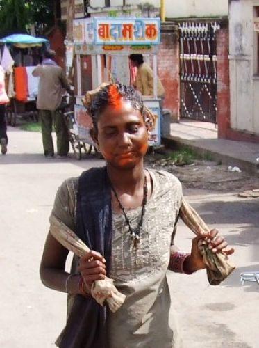 Zdjęcia: gdzies na szlaku.., new make-up style ?, NEPAL