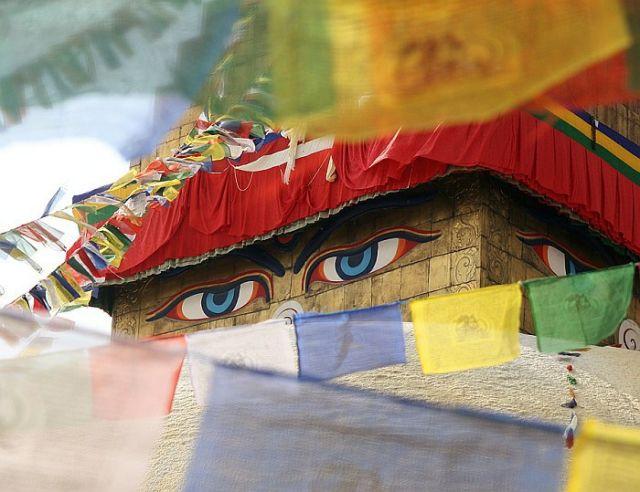 Zdjęcia: stupa Bouddanath , Kathmandu Valley, Bouddanath, NEPAL