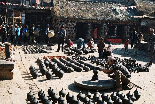 Zdjęcia: Bhaktapur, Potter's Square, NEPAL