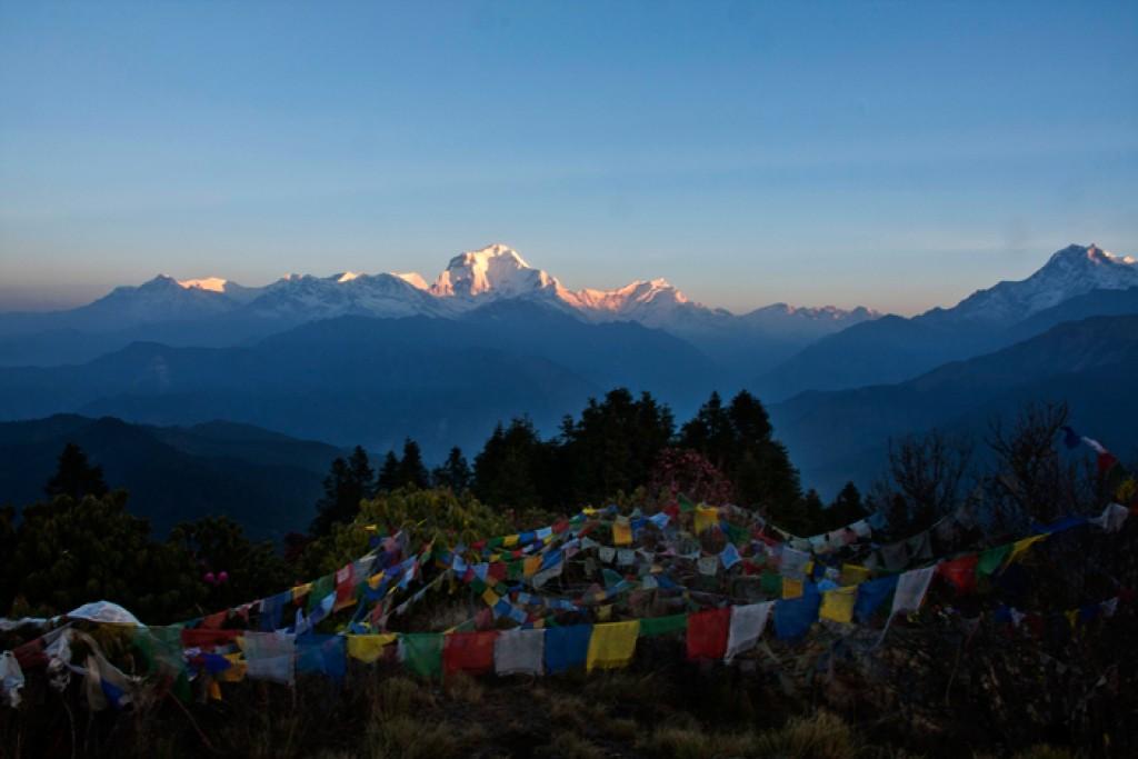 Zdjęcia: Pon Hill, Annapurna, zapalanie szczytów Pon Hill, NEPAL