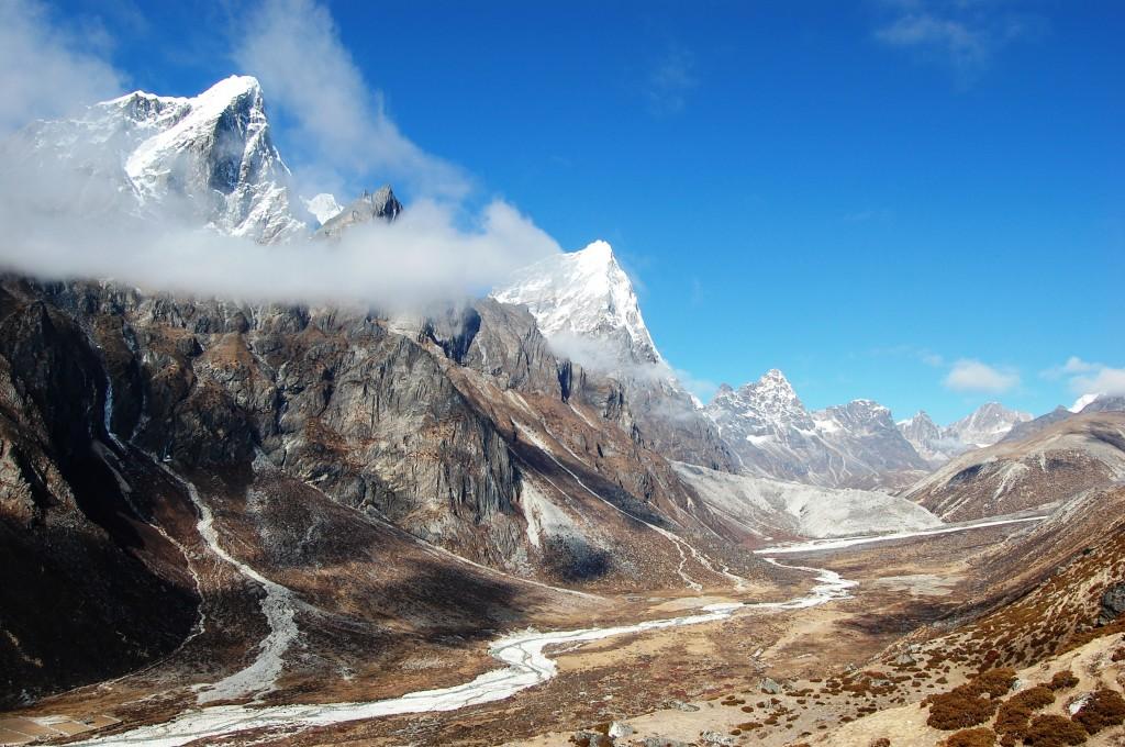 Zdjęcia: osada Dusa 4503m., Himalaje, Sagarmatha Himal, Taboche Peak i Arakam Tse, NEPAL