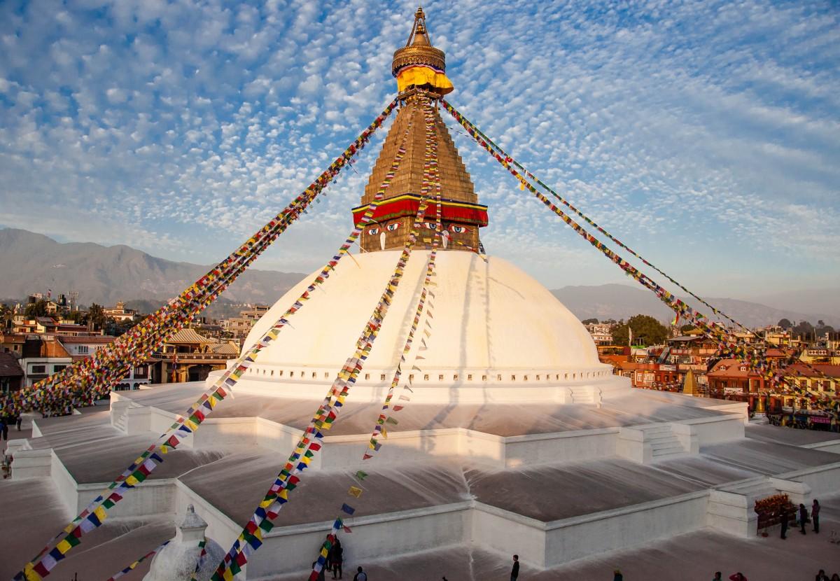Zdjęcia: Bodnath, Katmandu, Bodnath przed trzęsieniem ziemi, NEPAL