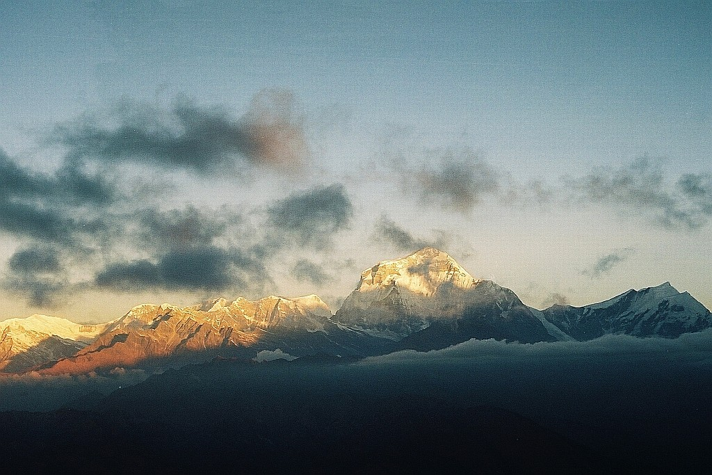 Zdjęcia: Poon Hill, masyw Annapurny, wschód słońca nad Dhaulagiri , NEPAL