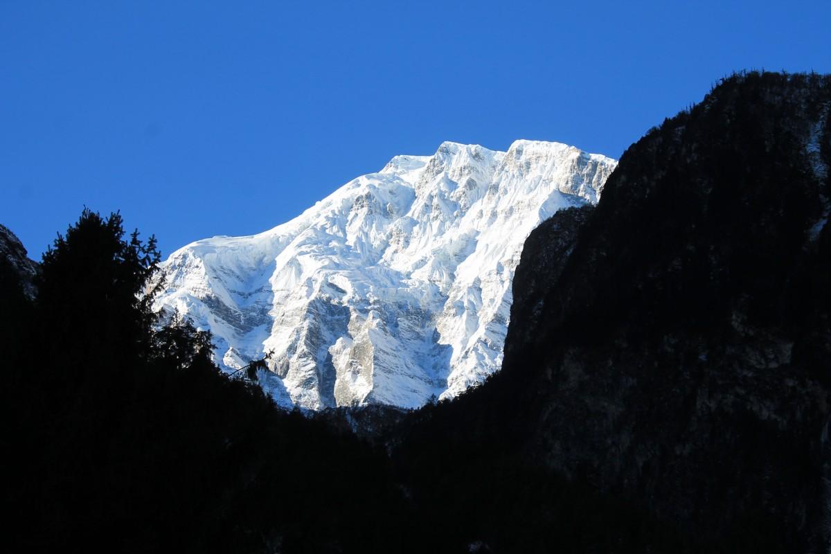 Zdjęcia: Widok z Dhikurpokhari, Nepal Srodkowy Annapurna, Trekking  Annapurna Circuit, NEPAL