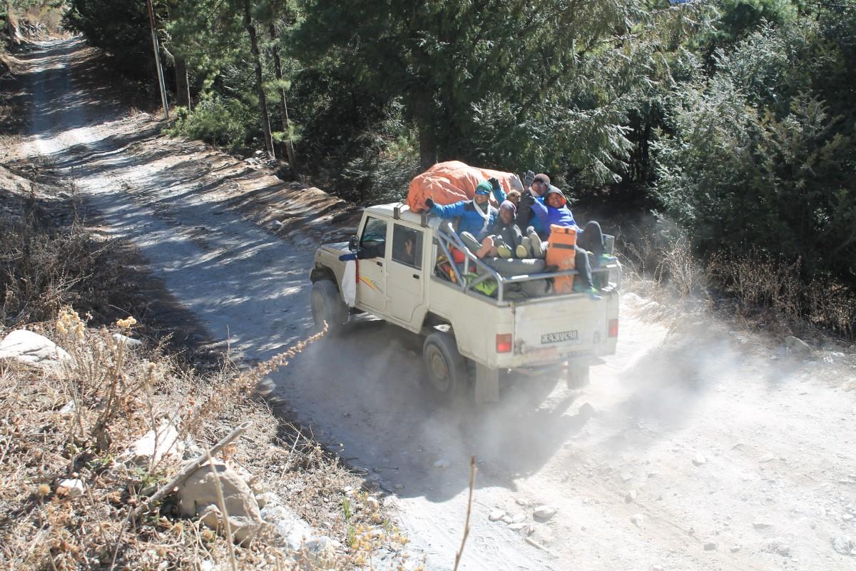 Zdjęcia: ze szlaku przed Upper Pisang, Nepal Srodkowy Annapurna, Trekking  Annapurna Circuit, NEPAL