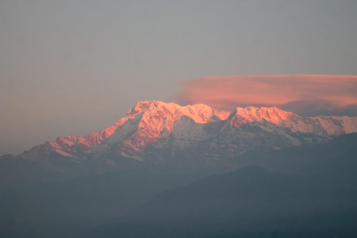Zdjęcia: Widok ze wzgorza Sarangkot 1540mnpm, Nepal Srodkowy Annapurna, Trekking  Annapurna Circuit, NEPAL