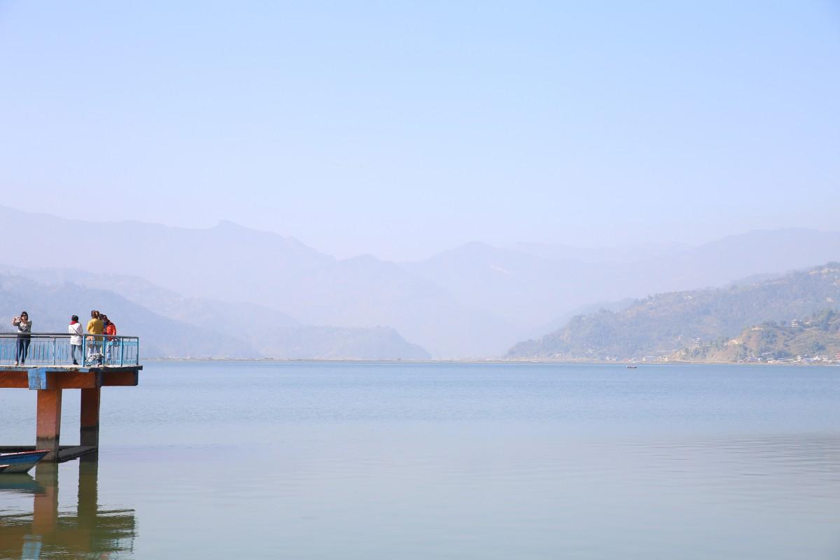 Zdjęcia: Fewa Lake, Pokhara, Stanąć między niebem a ziemią, NEPAL