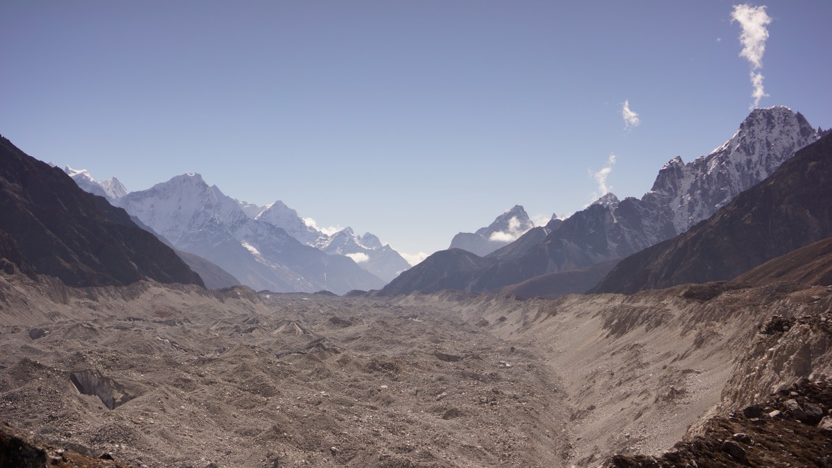Zdjęcia: Gokyo, Khumbu, Ngozumpa glacier, NEPAL