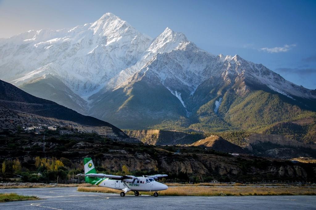 Zdjęcia: Jomsom, Mustang, lądowanie..., NEPAL