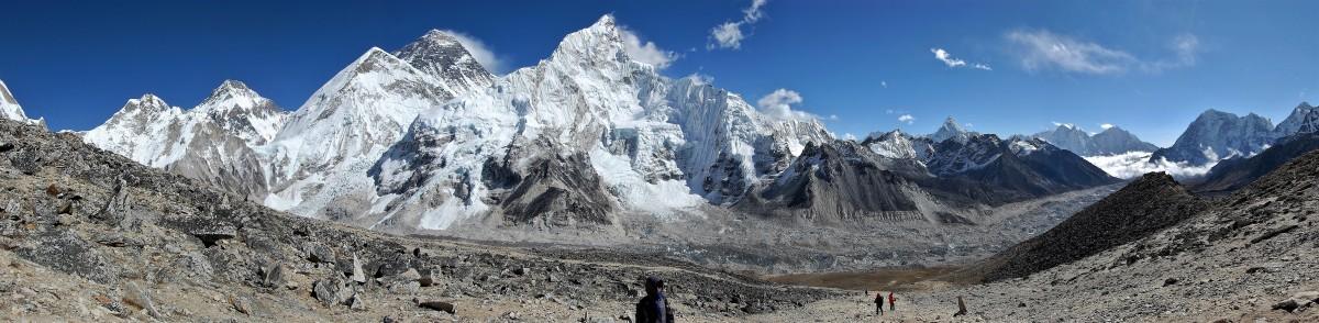 Zdjęcia: Kala Pattar, Himalaje, Everest w całej rozciągłości (-: panorama, NEPAL