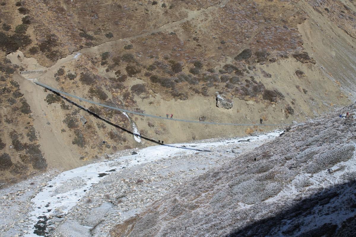 Zdjęcia:  okolice Yak Kharka, Annapurna, Most, NEPAL