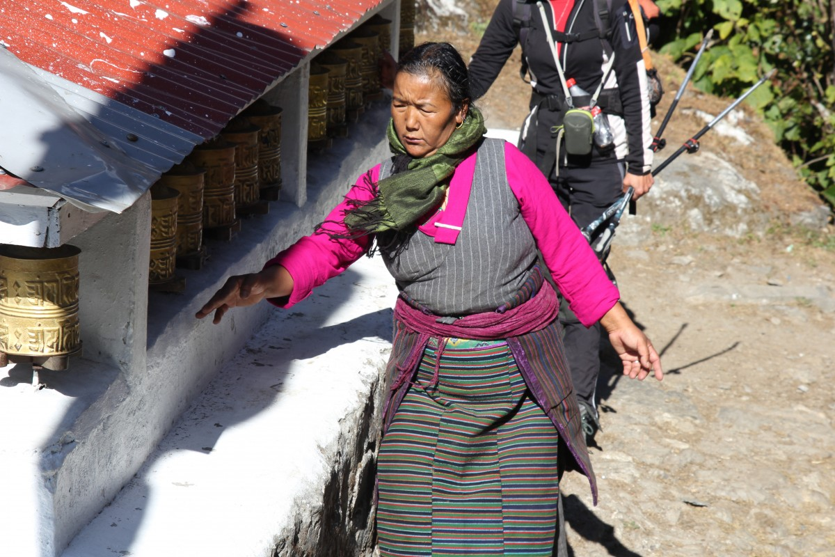 Zdjęcia: Trekking EBC, Park Narodowy Sagarmatha, Młynki modlitewne, NEPAL