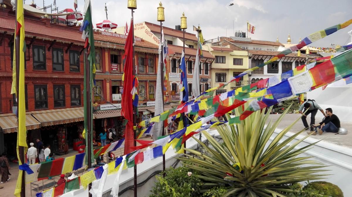 Zdjęcia: Stupa Bodnath, Nepal, Ze stupy Bodnath, NEPAL
