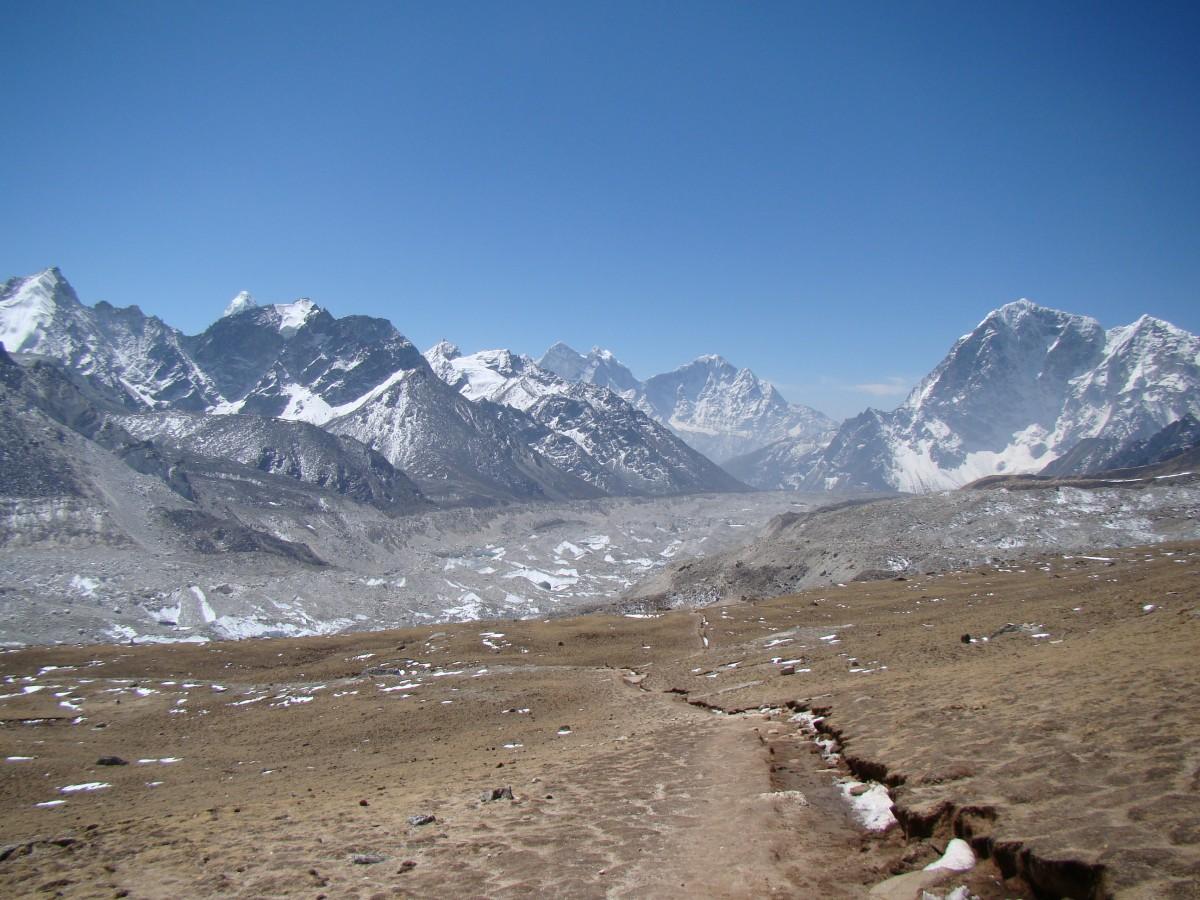 Zdjęcia: Szlak na Kala Pattar, Himalaje, Lodowiec Khumbu, NEPAL